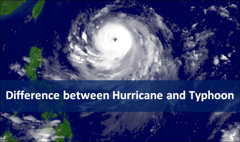 Difference between Hurricane and Typhoon