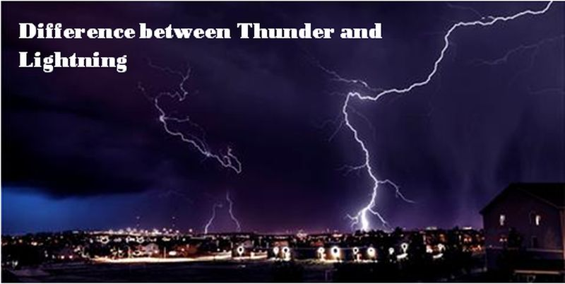 difference between thunder and lightning
